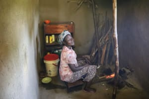 The Water Project: Shivagala Community, Alois Chiedo Spring -  Eunice Inside The Kitchen