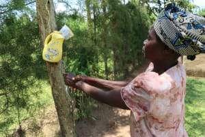 The Water Project: Shivagala Community, Alois Chiedo Spring -  Eunice Washing Hands