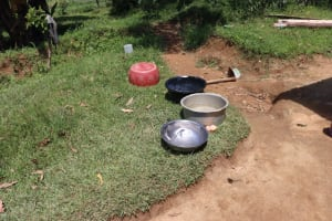 The Water Project: Shivagala Community, Alois Chiedo Spring -  Water Storage