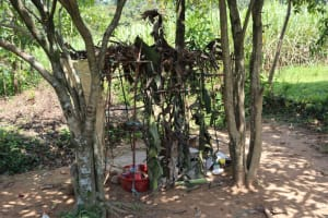 The Water Project: Shivagala Community, Alois Chiedo Spring -  Childrens Play Shelter