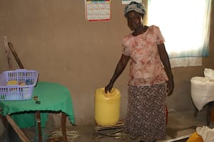 The Water Project: Shivagala Community, Alois Chiedo Spring -  Storage Container