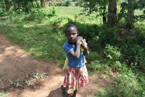 The Water Project: Malanga Community, Malava Housing Spring -  A Girl Goes To The Grain Mill