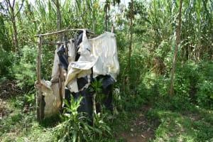 The Water Project: Malanga Community, Malava Housing Spring -  Bathing Shelter