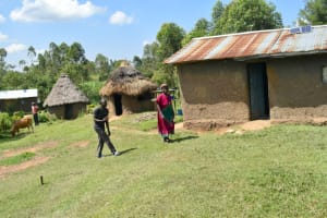 The Water Project: Malanga Community, Malava Housing Spring -  Compound