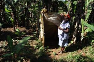 The Water Project: Shianda Community, Panyako Spring -  Bathing Shelter