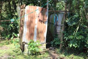 The Water Project: Shianda Community, Panyako Spring -  Bathroom Shelter