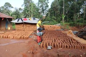 The Water Project: Shianda Community, Panyako Spring -  Brick Making