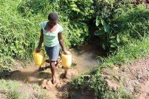 The Water Project: Shianda Community, Panyako Spring -  Carrying Water