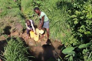 The Water Project: Shianda Community, Panyako Spring -  Collecting Water