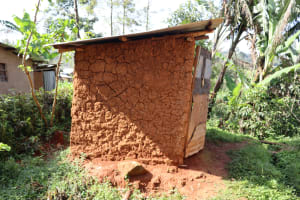 The Water Project: Shianda Community, Panyako Spring -  Latrine