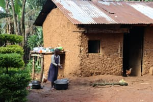 The Water Project: Shianda Community, Panyako Spring -  Washing Dishes At The Dishrack
