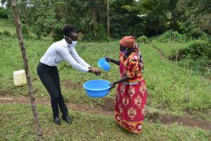 The Water Project: Silungai B Community, Tali Saya Spring -  Handwashing Demonstration