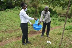 The Water Project: Silungai B Community, Tali Saya Spring -  Handwashing Session