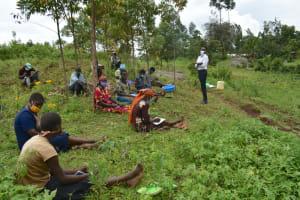 The Water Project: Silungai B Community, Tali Saya Spring -  Training