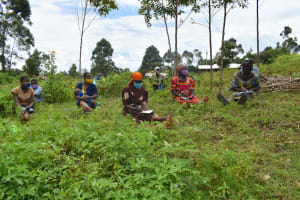 The Water Project: Silungai B Community, Tali Saya Spring -  Training Participants