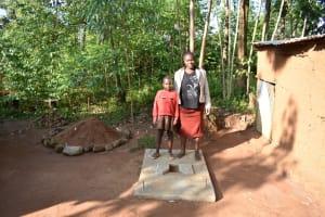 The Water Project: Emusaka Community, Muluinga Spring -  Posing With A New Sanplat