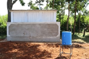 The Water Project: St. Peters Bwanga Primary School -  New Vip Latrines And Handwashing Station