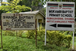 The Water Project: Mukambi Baptist Primary School -  Signpost To The School