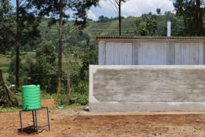 The Water Project: St. Peters Bwanga Primary School -  Second Block Of Latrines And Handwashing Station