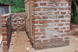 The Water Project: Jamulongoji Primary School -  Latrines In Progress