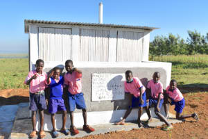The Water Project: Eshimuli Primary School -  Boys Pose At Their Newly Constructed Vip Latrines