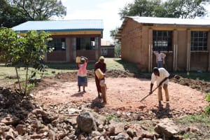 The Water Project: St. Peters Bwanga Primary School -  Tank Foundation Work