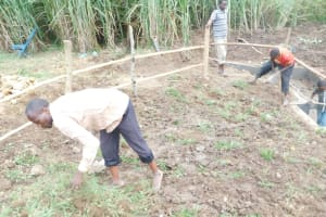 The Water Project: Emusaka Community, Muluinga Spring -  Planting Grass Above Catchment Area