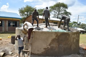 The Water Project: St. Peters Bwanga Primary School -  Setting The Dome