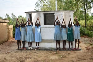 The Water Project: Isango Primary School -  Girls At Their New Latrines