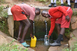 The Water Project: Mukambi Baptist Primary School -  Boys Collecting Water
