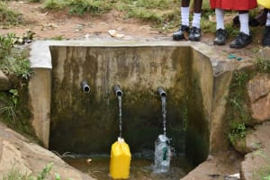 The Water Project: Mukambi Baptist Primary School -  Spring Water Source