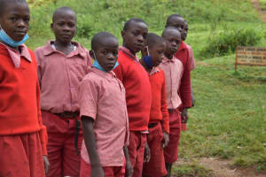 The Water Project: Mukambi Baptist Primary School -  Waiting To Fetch Water At The Spring