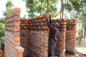 The Water Project: St. Peters Bwanga Primary School -  Latrine Construction
