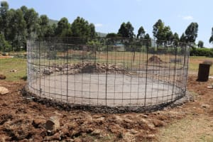 The Water Project: St. Peters Bwanga Primary School -  Metal Frame Set In Foundation