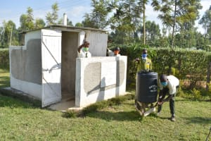 The Water Project: ACK St. Peter's Khabakaya Secondary School -  Boys Proudly Posing At Their New Latrines