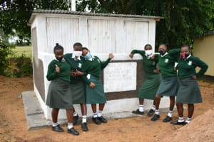 The Water Project: Makunga Secondary School -  Girls At Their New Latrines