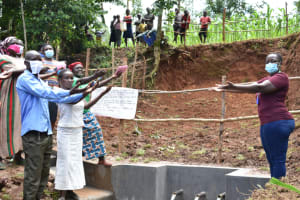 The Water Project: Mukhweso Community, Shemema Spring -  Handing Over Shemema Spring