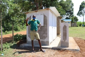 The Water Project: St. Peters Bwanga Primary School -  Posing By The Latrines