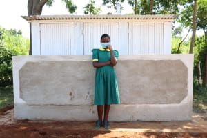 The Water Project: St. Peters Bwanga Primary School -  Posing At The Latrines