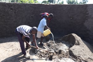 The Water Project: St. Peters Bwanga Primary School -  Teamwork Inside The Tank
