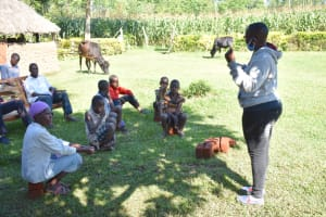 The Water Project: Emusaka Community, Muluinga Spring -  Trainer Jacque Discusses Primary Health Care