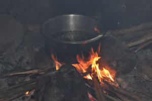 The Water Project: Mukambi Baptist Primary School -  Food Cooking