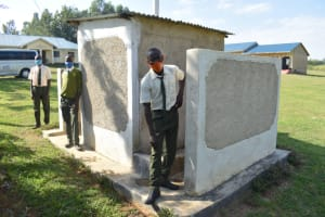 The Water Project: ACK St. Peter's Khabakaya Secondary School -  Posing At The Back Of Latrines And Urinal