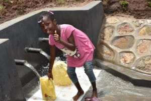 The Water Project: Mukhweso Community, Shemema Spring -  Thumbs Up For Clean Water