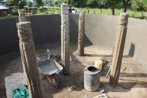 The Water Project: St. Peters Bwanga Primary School -  The Pillars Before Plastering
