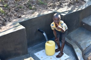 The Water Project: Emusaka Community, Muluinga Spring -  Thumbs Up For Clean Water