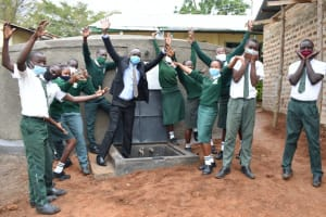 The Water Project: Makunga Secondary School -  Cheers And Happiness For The New Source Of Water