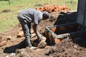 The Water Project: St. Peters Bwanga Primary School -  Constructing The Drawing Point