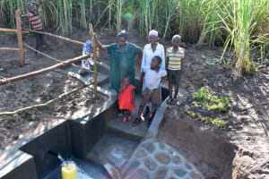 The Water Project: Emusaka Community, Muluinga Spring -  Posing At The Spring