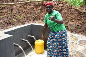 The Water Project: Mukhweso Community, Shemema Spring -  Easy To Fetch Water With Three Pipes